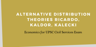 Alternative Distribution Theories Ricardo, Kaldor, Kalecki