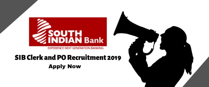 SIB Clerk and PO Recruitment 2019