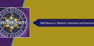 KBC Season 11 questions and answers