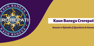 Kaun Banega Crorepati 11 Episode-9 Questions and Answers