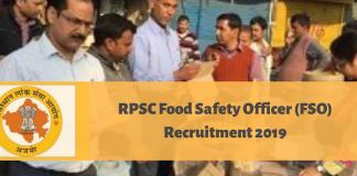 RPSC FSO Recruitment 2019