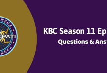Kaun Banega Crorepati (KBC) Season 11 Episode 20 Questions and Answers
