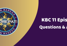 Kaun Banega Crorepati (KBC) Season 11 Episode 21 Questions and Answers