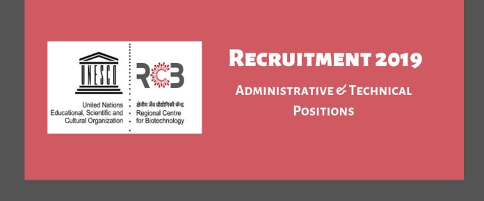 RCB recruitment 2019