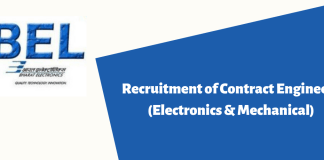 Recruitment of Contract Engineers (Electronics & Mechanical)
