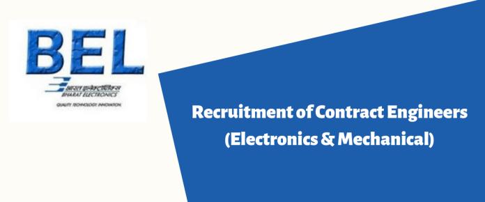 Recruitment of Contract Engineers (Electronics & Mechanical)