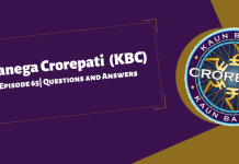 Kaun Banega Crorepati (KBC) Season 11 Episode 65 Questions and Answers