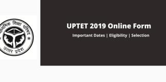 UPTET 2019 Online Form