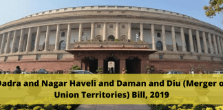 Dadra and Nagar Haveli and Daman and Diu (Merger of Union Territories) Bill, 2019