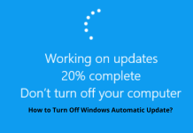 How to disable automatic update or forced restart in windows 7,8 and 10