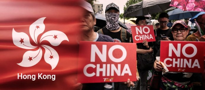 Anti-China Protest in Hong Kong