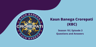 KBC 10 answers