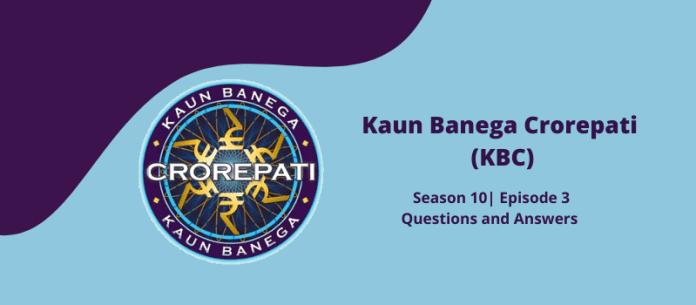 KBC 10 answers