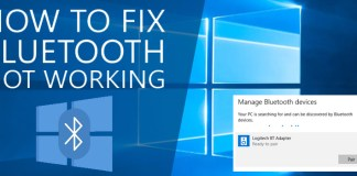 bluetooth issues fix in Windows 10