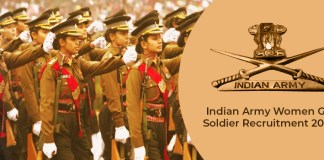 Women soldier recruitment 2020