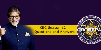 KBC 12 answers