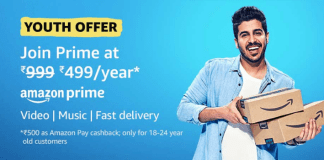 Amazon prime youth offer