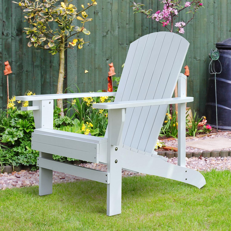 Details About Outdoor Patio Wooden Adirondack Chair Lounge W Cup Holder Deck Garden Furniture
