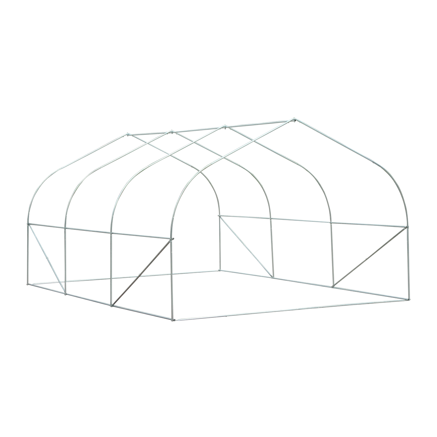 Outsunny 15 X10 X7 Garden Planting Shed Heavy Duty Walk