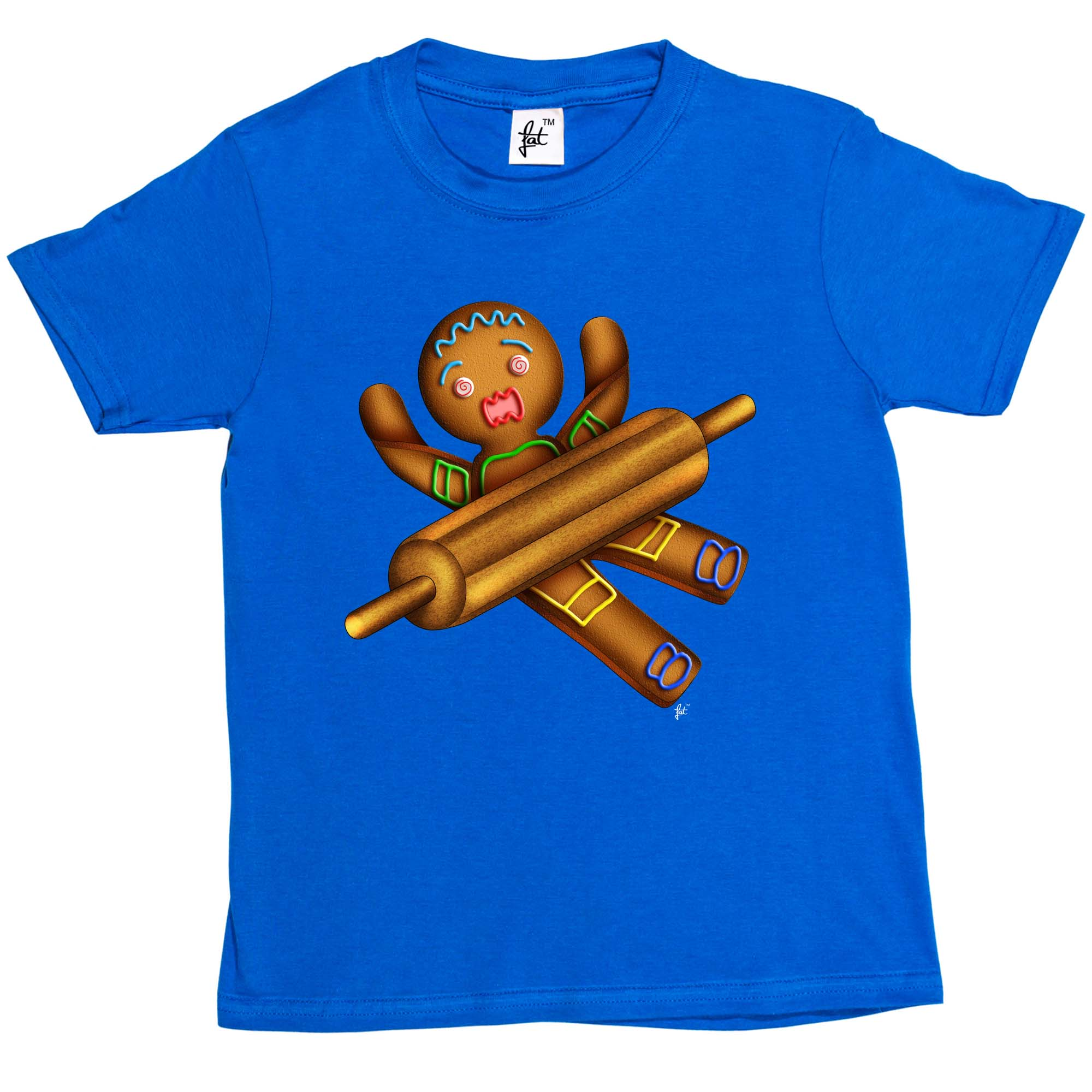 Gingerbread Man With Rolling Pin Being Rolled Kids Boys