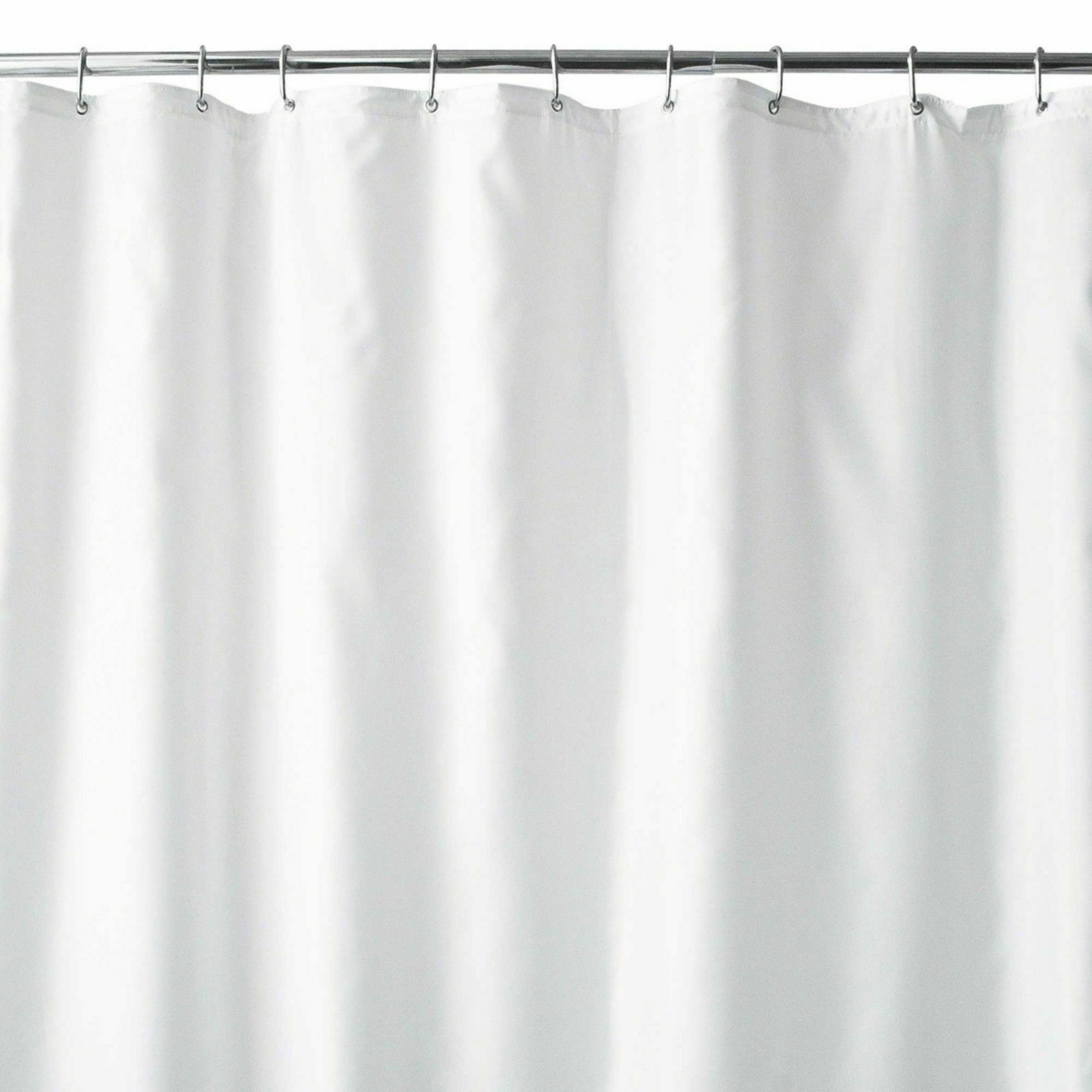 Details About New Wamsutta Luxury Fabric Shower Curtain Liner W Suction Cups 70 X72 In White