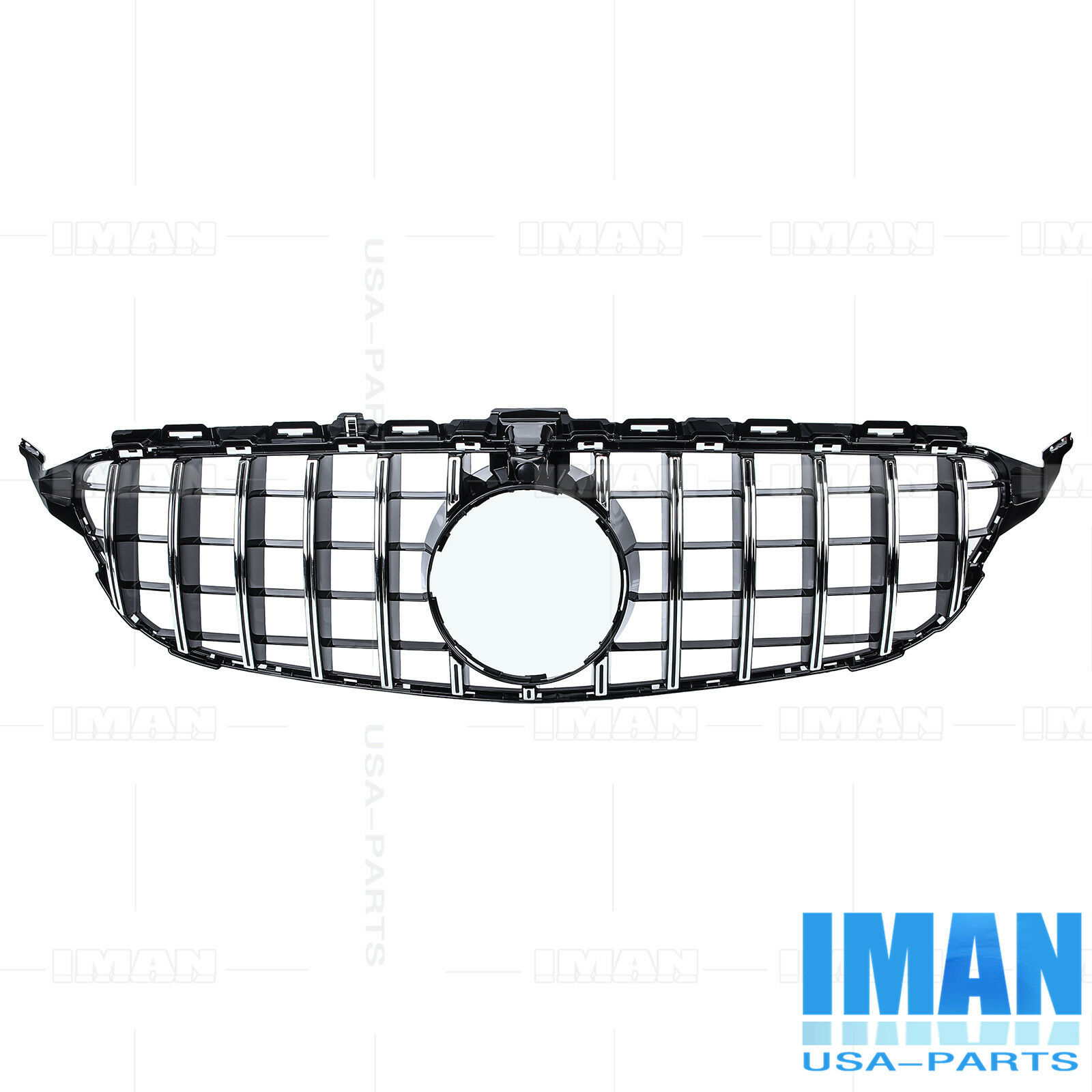 Gt R Style Grille Chrome Black Grill For Mercedes Benz