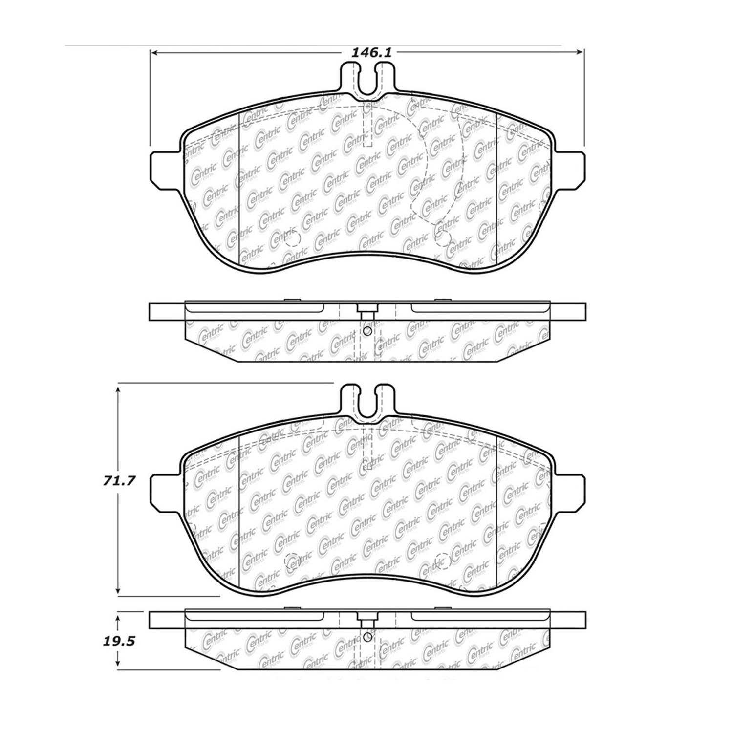 Centric Parts New Brake Pads Front Rear For 10 11 Mercedes