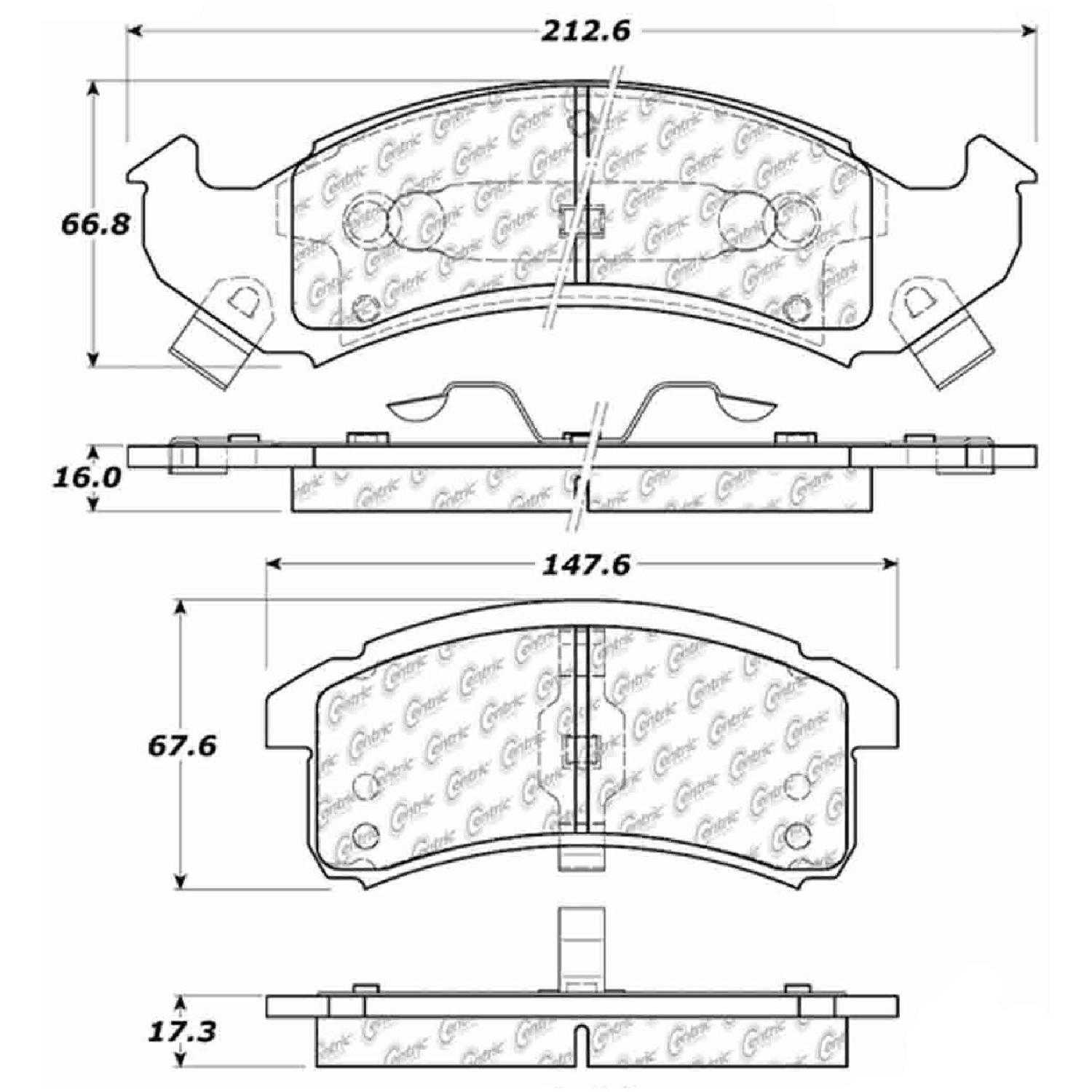Centric Parts Brake Pads Front Rear For 94 96 Cadillac