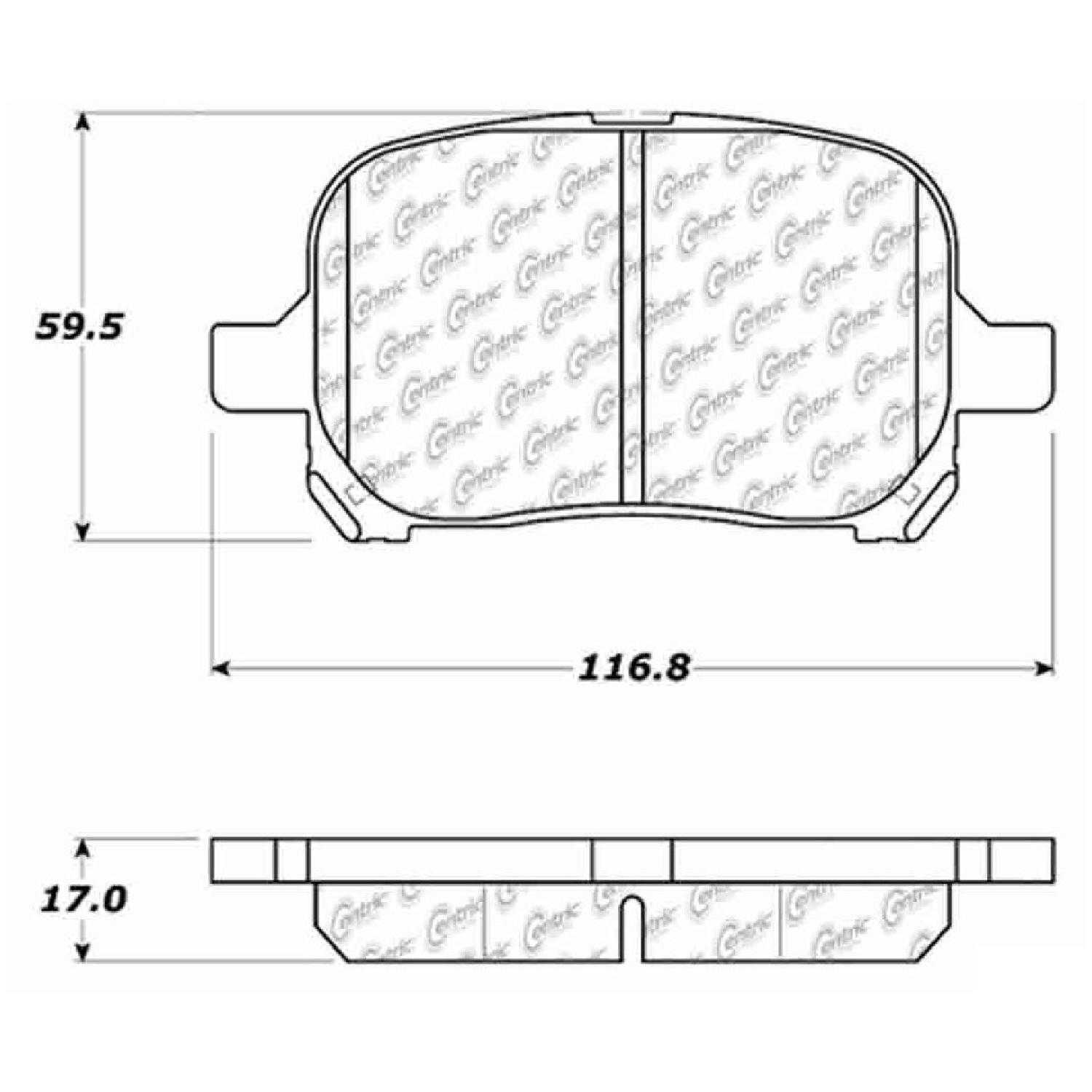 Centric Parts Brake Pads Front Rear For 98 99 Toyota