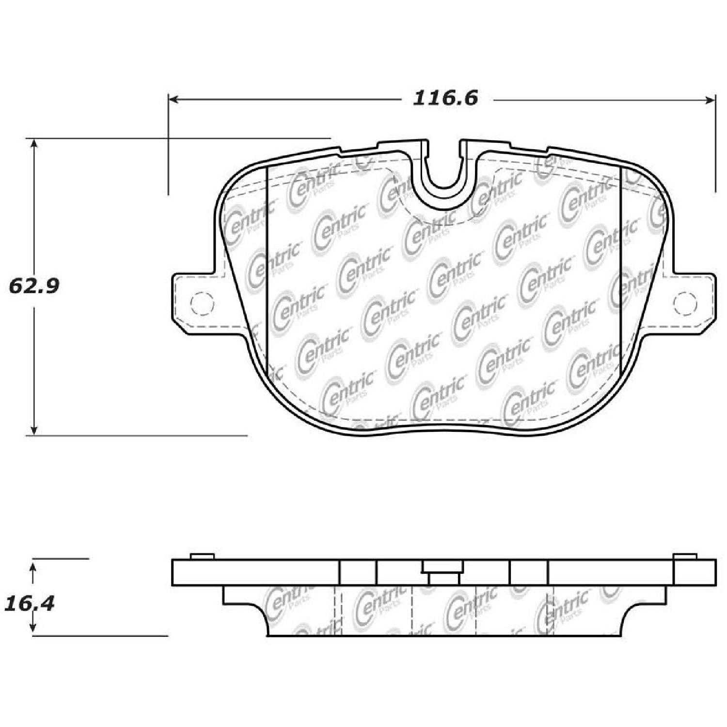 Centric Parts Brake Pads For Land Rover Range