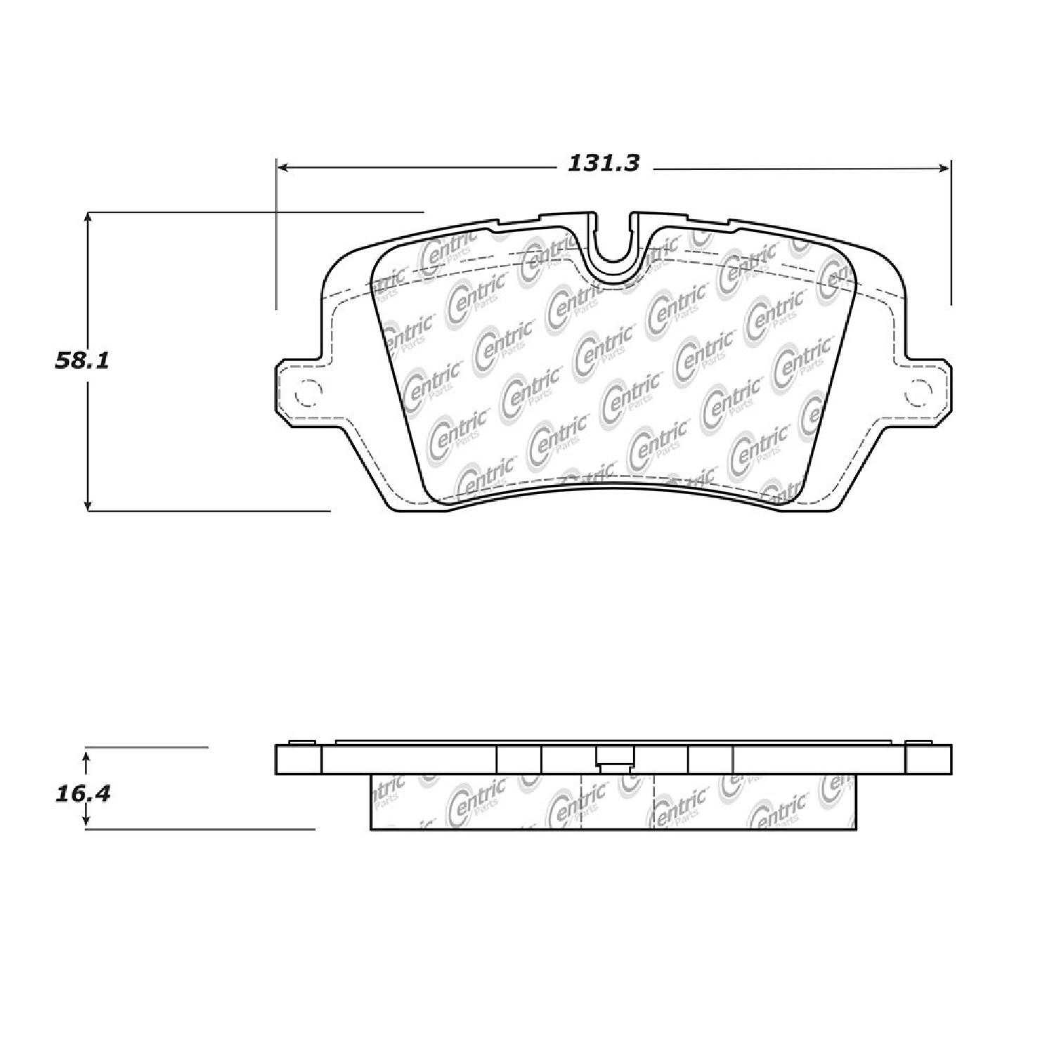 Centric Parts Brake Pads Front Rear For 14 16 Land Rover