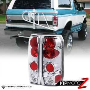 9296 Ford F150 F250 F350 Bronco Chrome Rear Tail Lights
