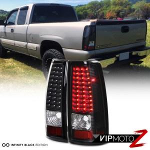 LR LED BrakeSignal Black Tail Light Clear Reverse Backup