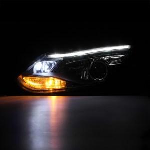 20122014 Ford Focus Sedan Hatchback Black LED DRL