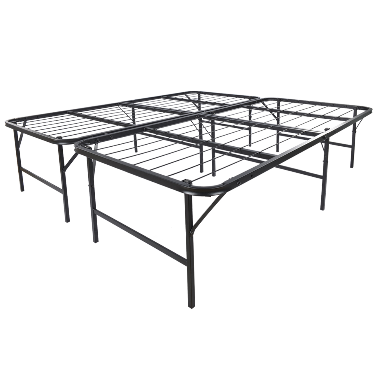 Platform Bed Frame King Mattress Foundation Foldable