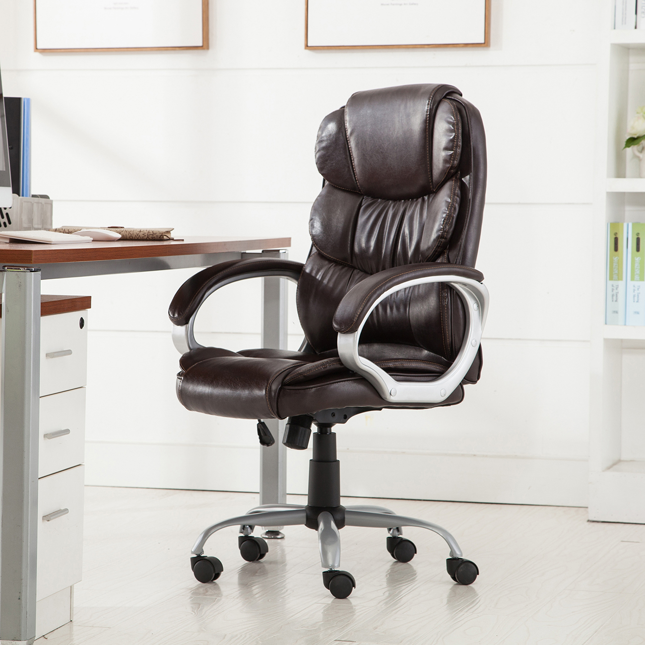 Executive Black Plus Leather Chair Boss