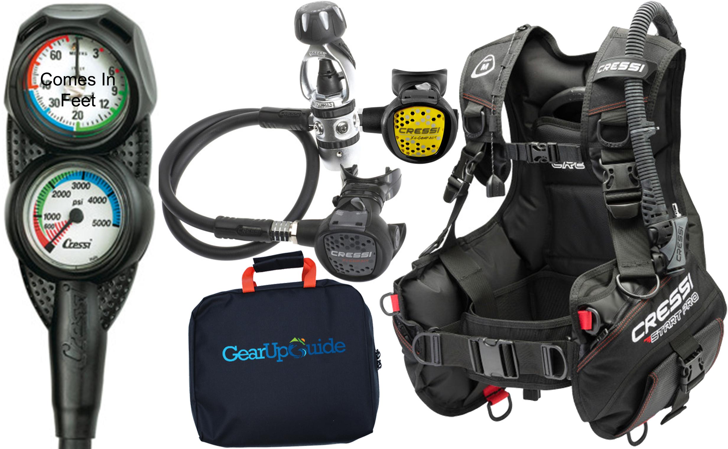 Cressi Start Pro 2 0 Scuba Diving Gear Package Assembled