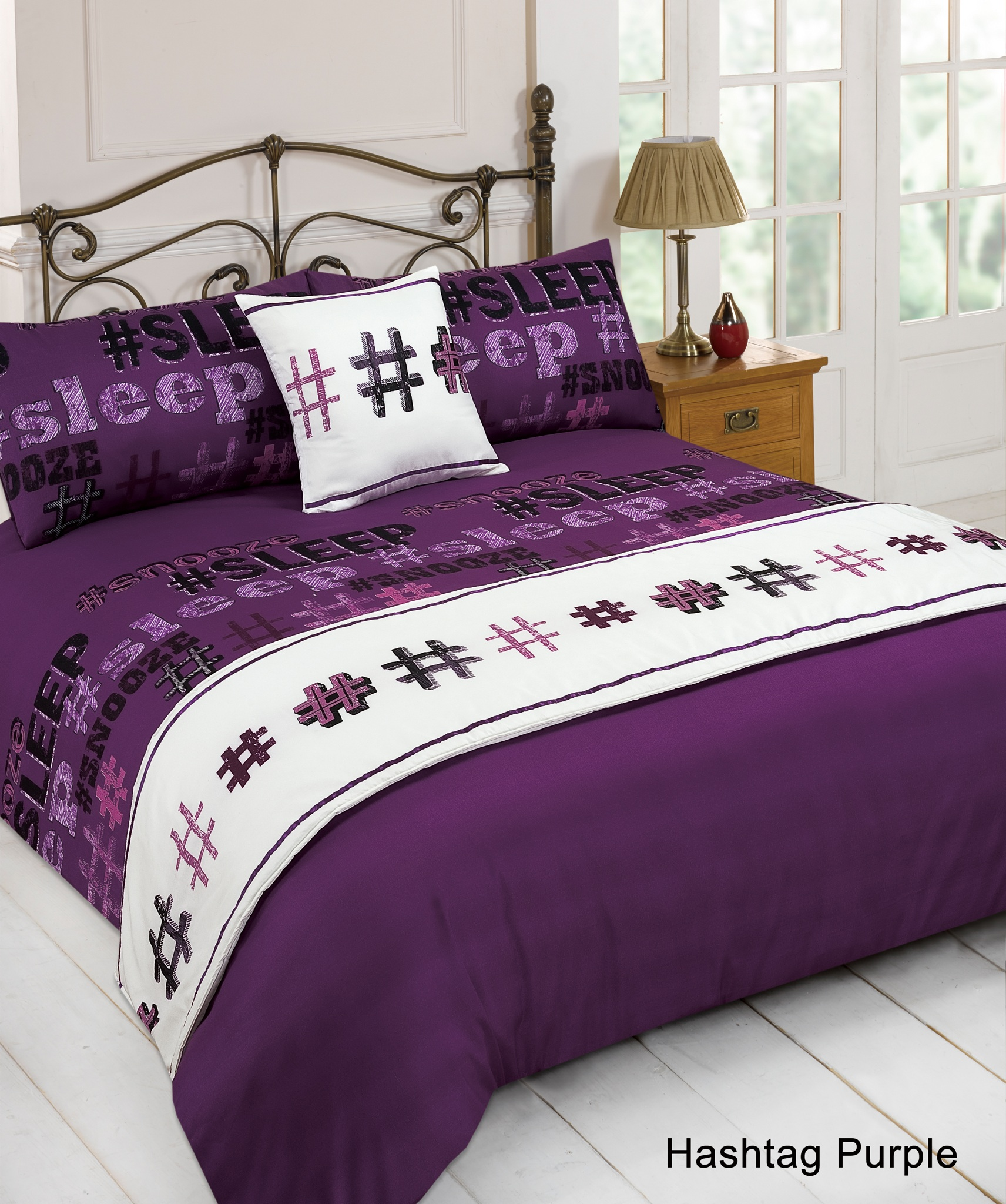 5pc Bed In A Bag Bedding Duvet Cover Quilt Set Hashtag