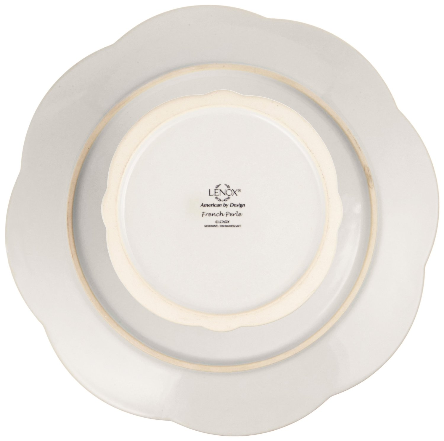 Lenox French Perle Pedestal Cake Plate Medium White