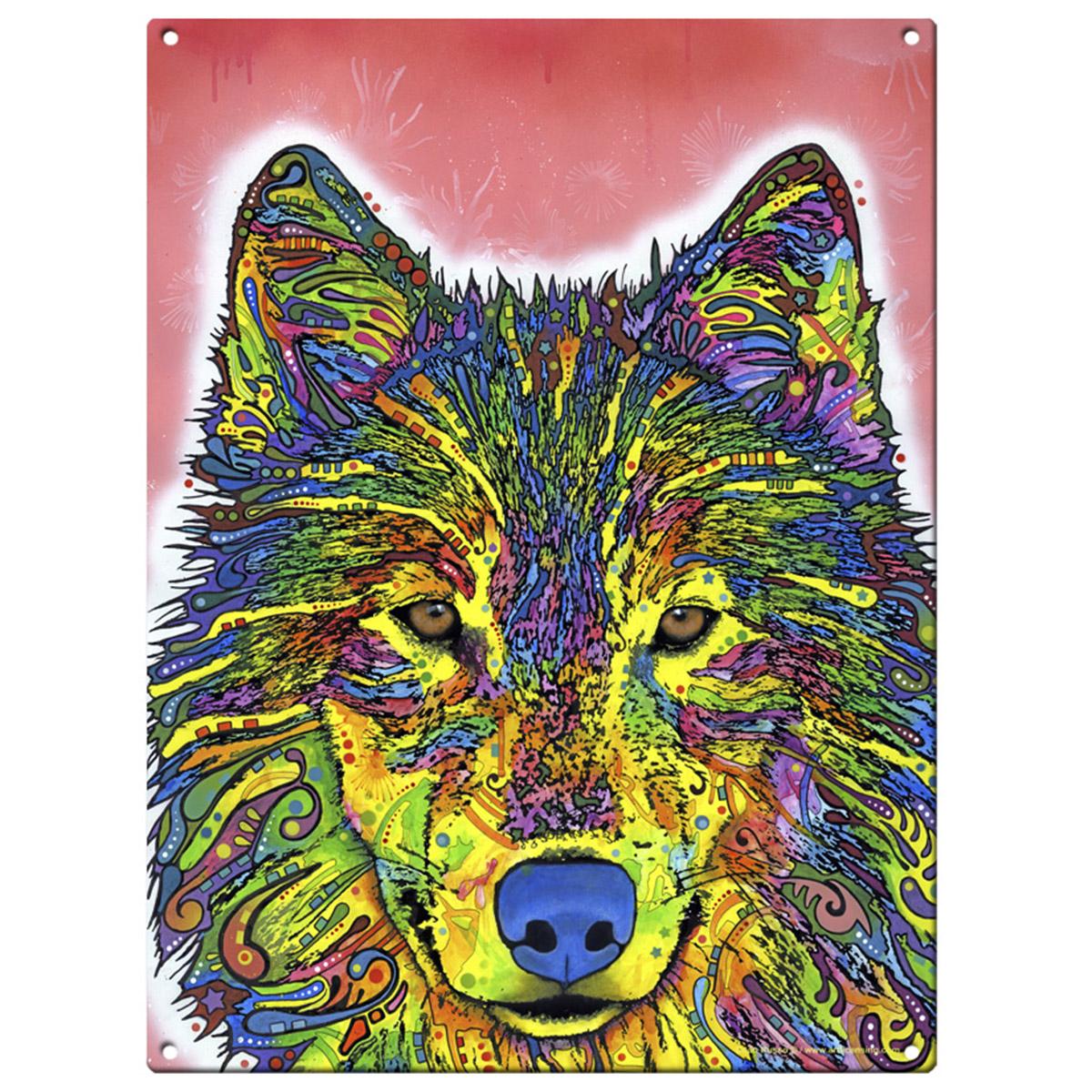 Wolf Dean Russo Pop Art Metal Sign Wild Steel Wall Decor