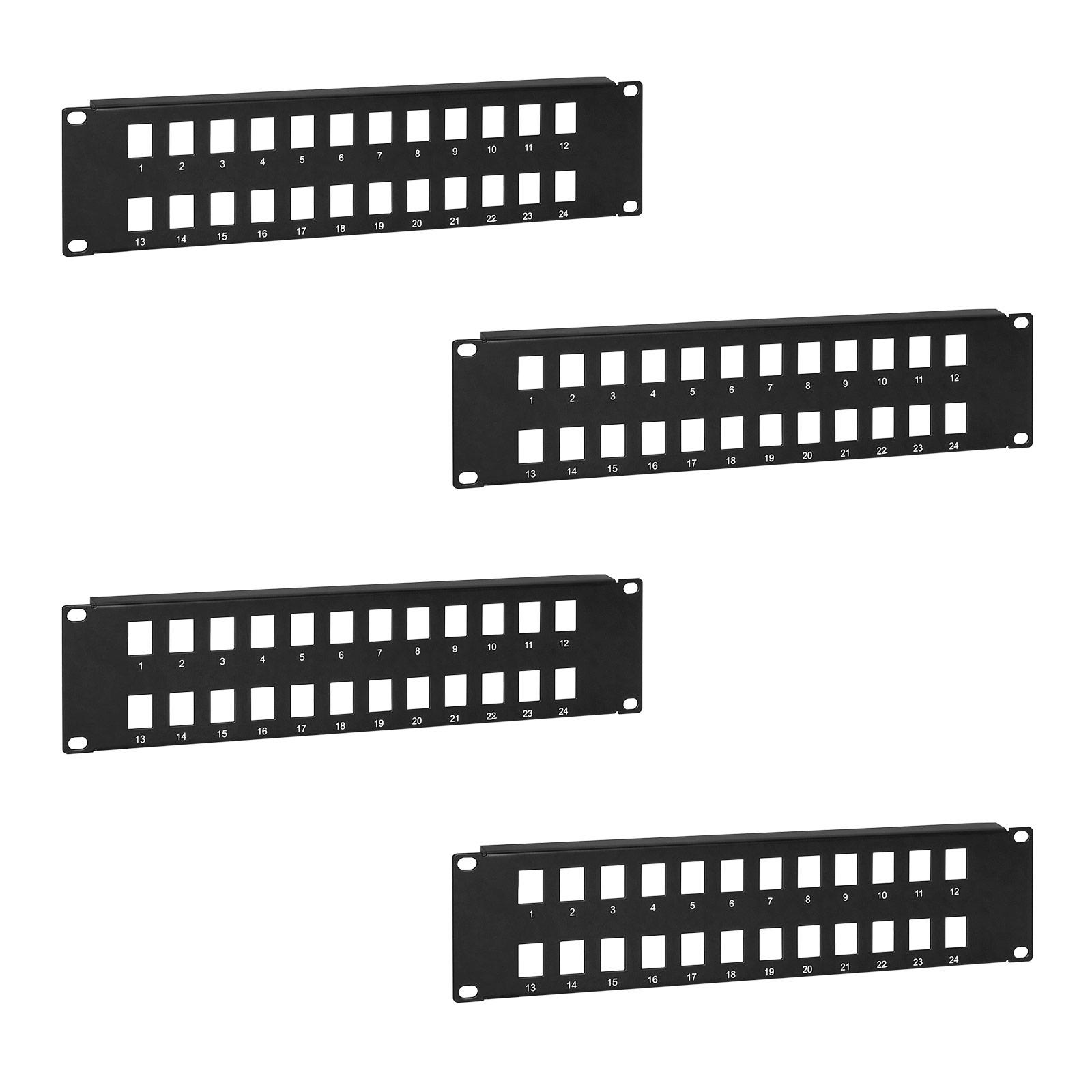 4x 24 Port 2u Keystone Jack Snap In Blank Patch Panel For