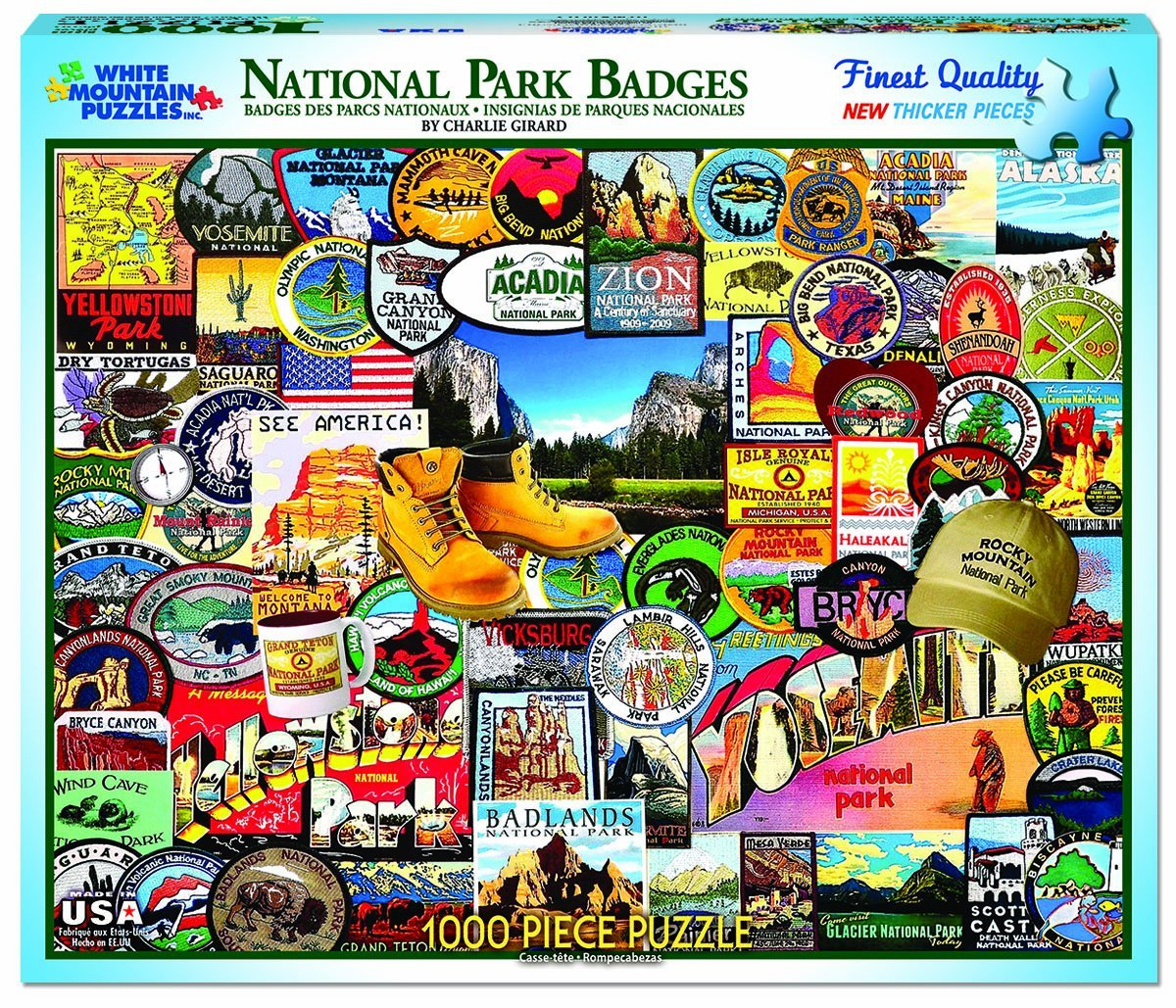 White Mountain Puzzles National Park Badges Collage