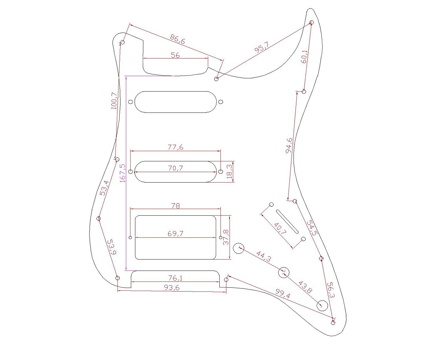 Stratocaster Pickguard For Fender Us Mexico Strat Electric
