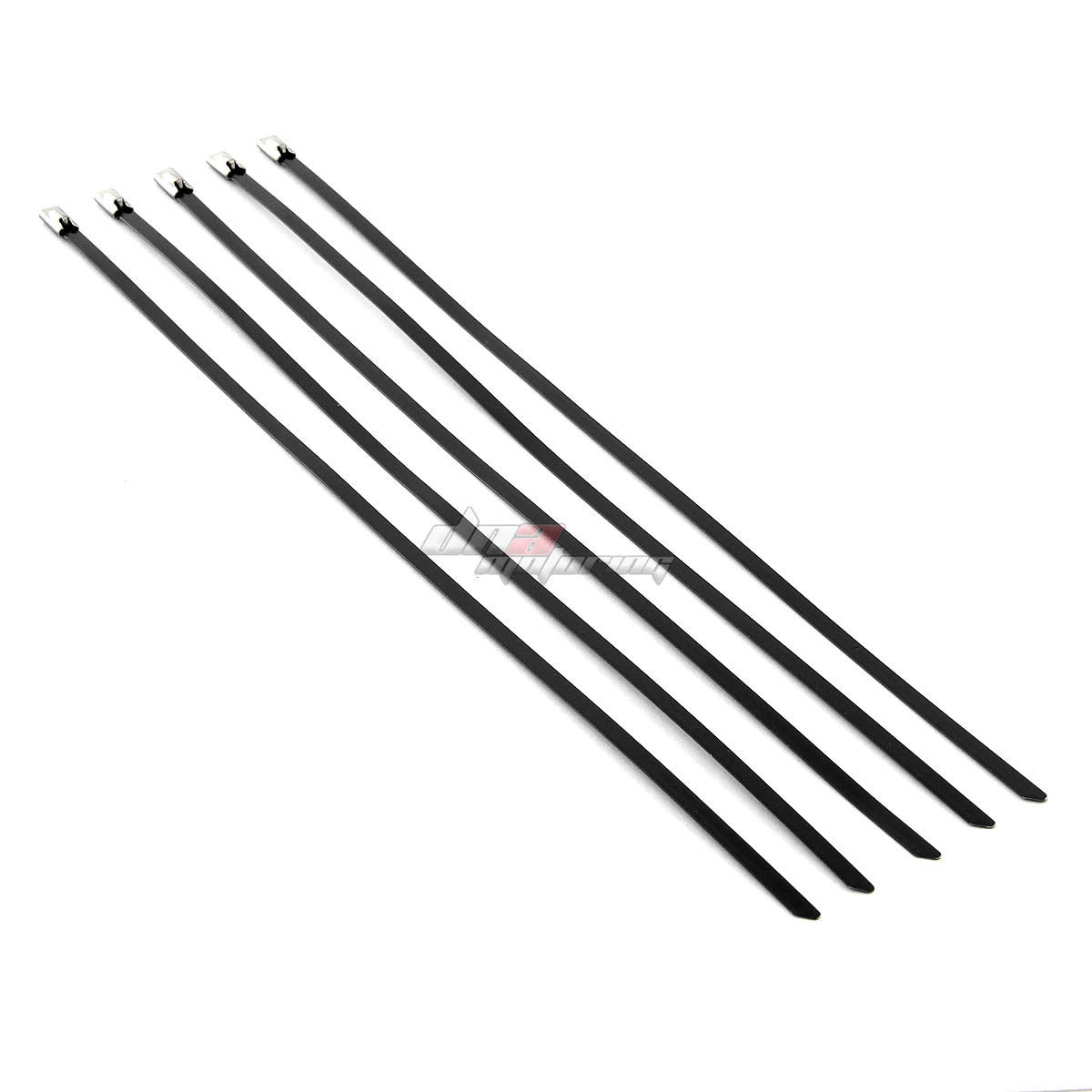 X5 12 5mm Stainless Black Self Locking Zip Tie Cable Wire