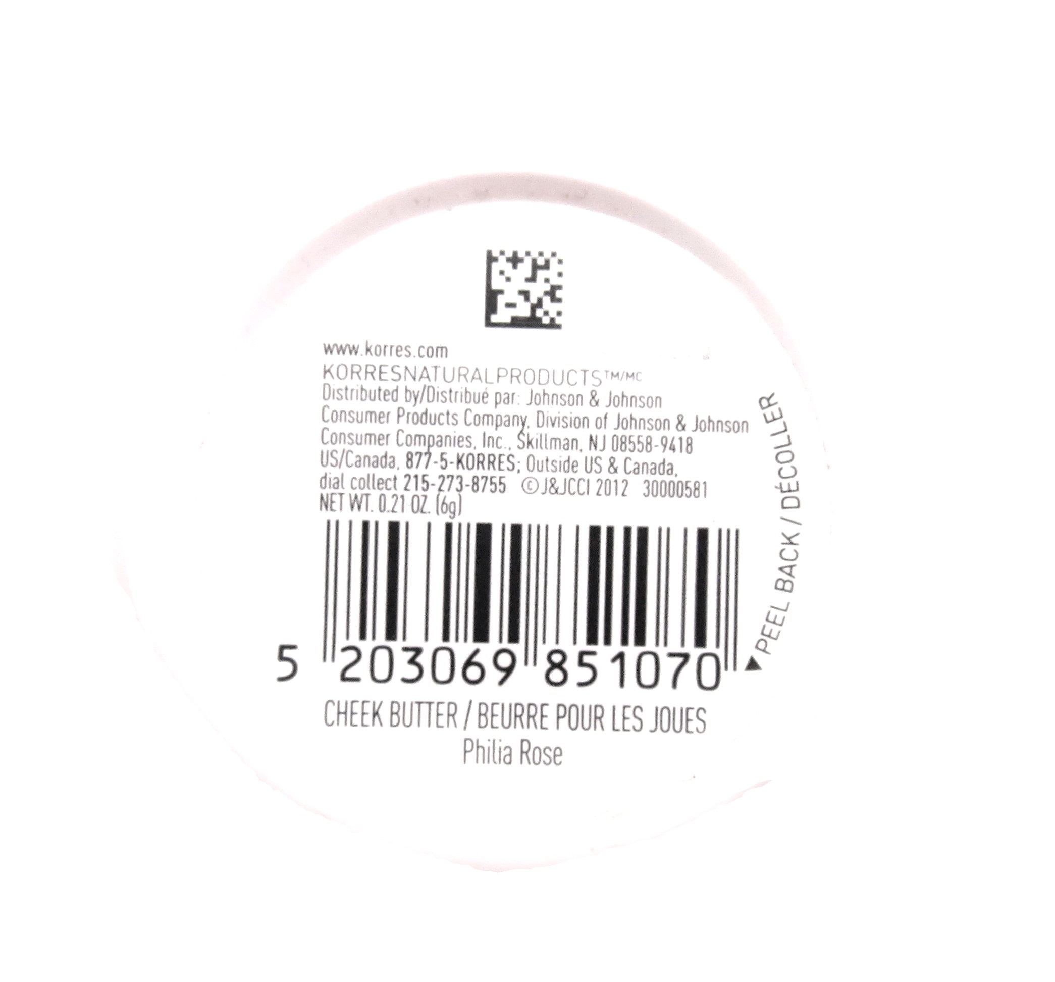 Korres Cheek Butter Cream Tint Blush 0 21oz 6g