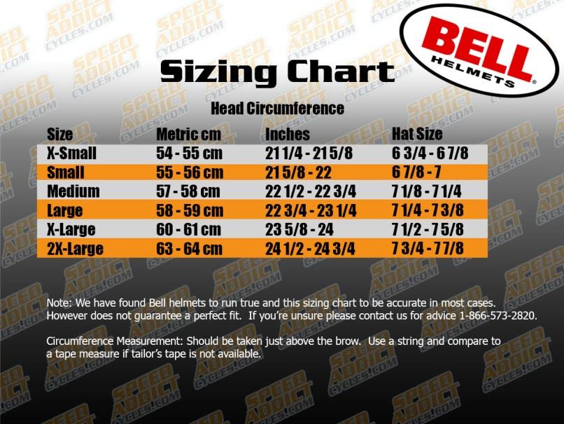 Bell Mx Helmet Size Guide