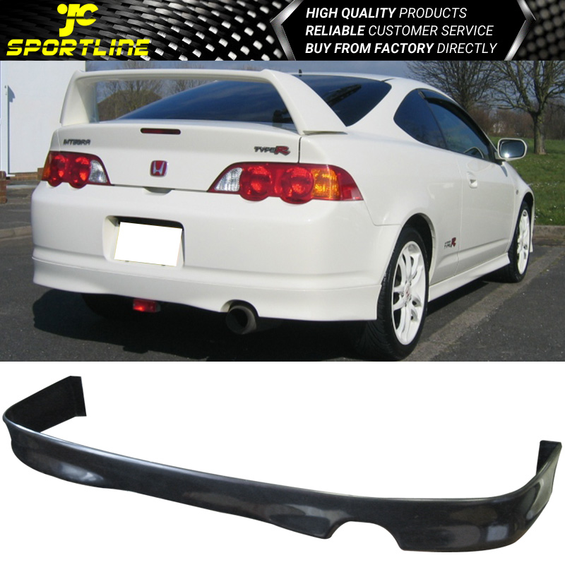details about fits 02 03 04 acura rsx dc5 black pu rear bumper lip spoiler bodykit