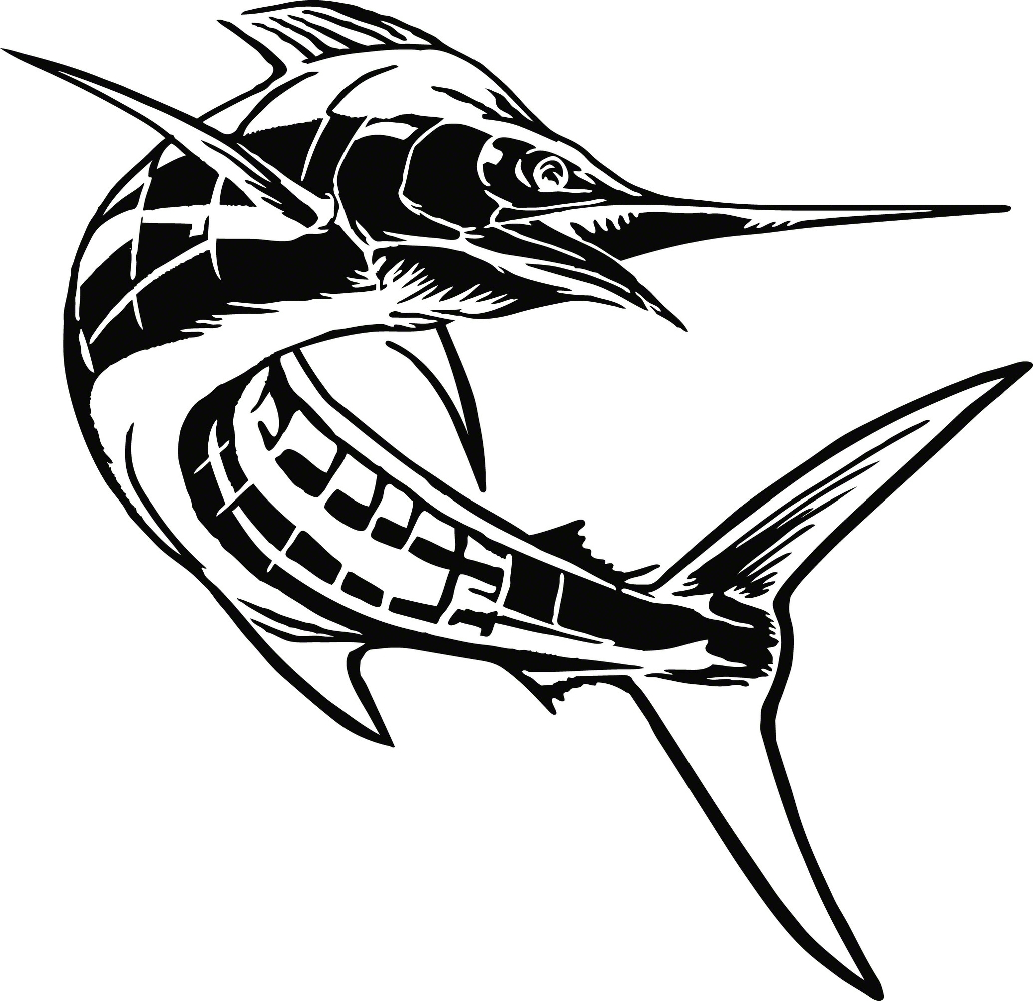 Calcutta Lvecm002 Cut Decal Marlin 7