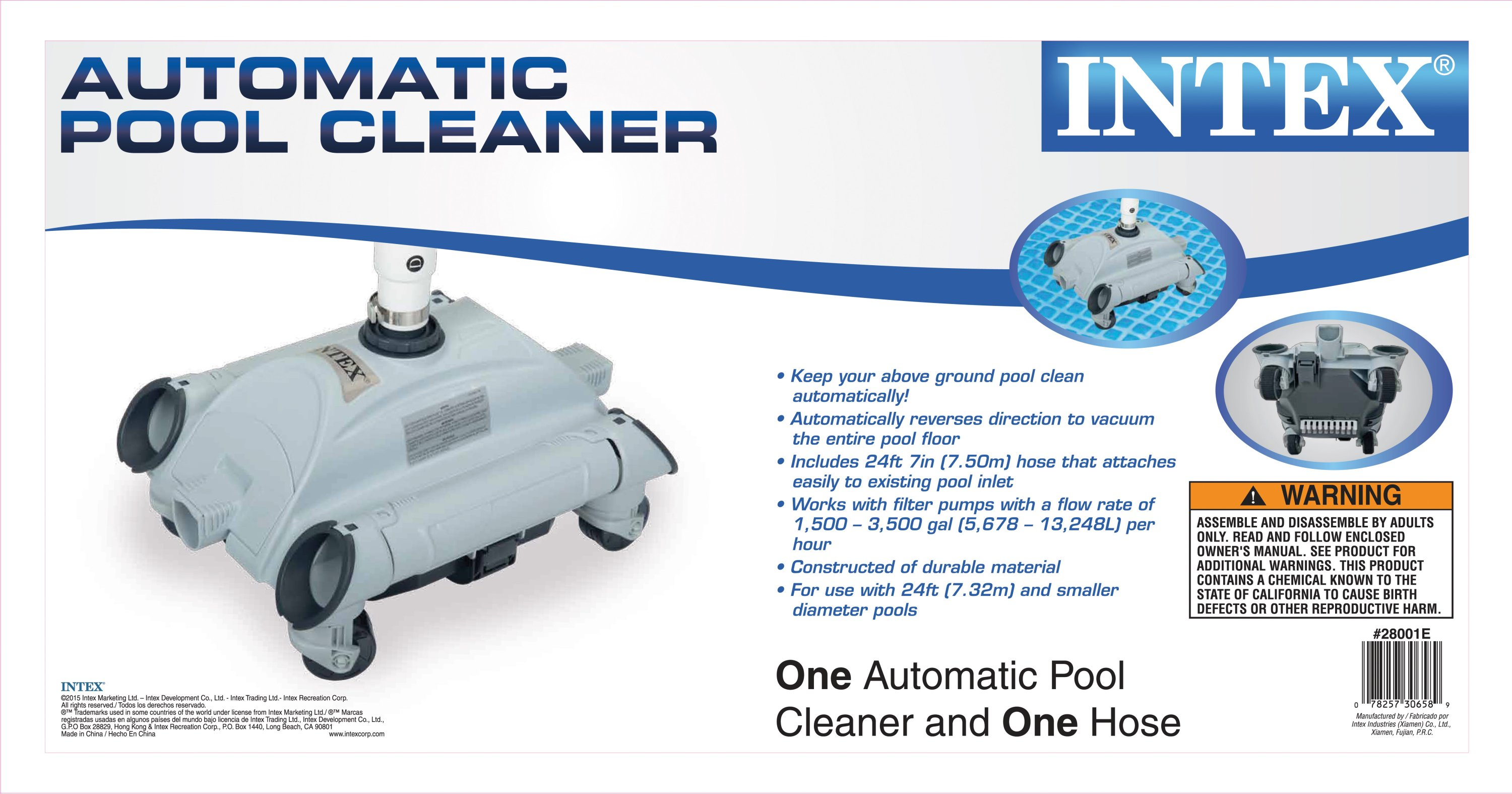Intex Auto Pool Cleaner Maintenance Vacuum Cleaner Above