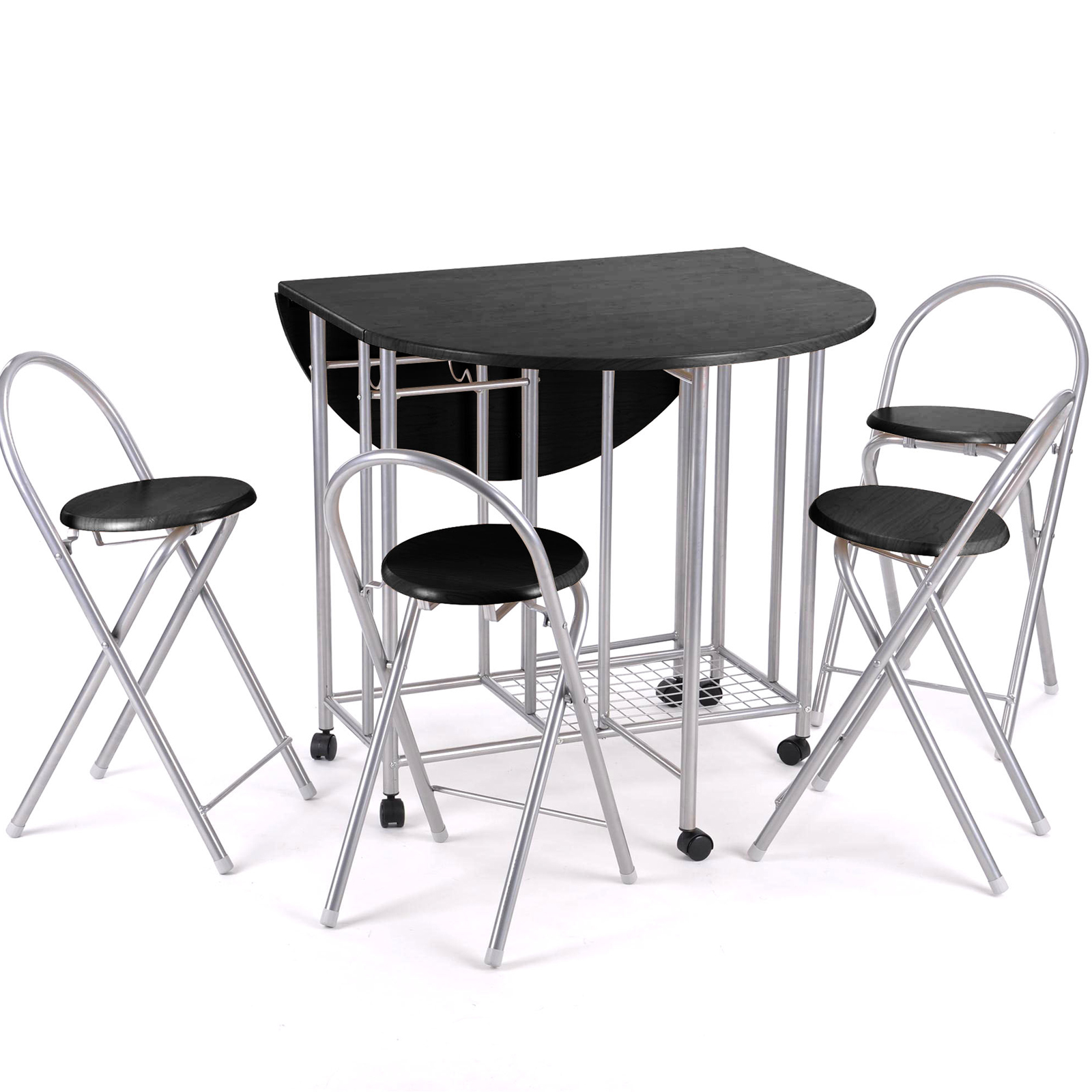 5pc Kitchen Dinette Dinning Folding Table And Chairs Set